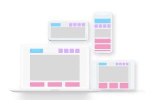 Fluid grid in responsive web design example